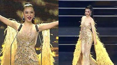 Kiều Loan mặc jumpsuit trình diễn dạ hội, khán giả xem Miss Grand 2019 há hốc với hình ảnh lạ kỳ