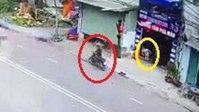 Chủ nhà đuổi theo tên trộm xe máy nhưng không kịp