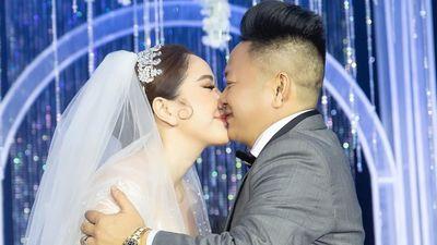 Bảo Thy khóc nghẹn, ôm hôn chồng trong ngày cưới