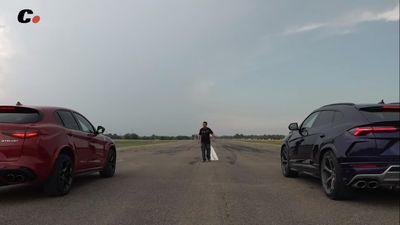 Cuộc đua giữa Alfa Romeo và Lamborghini Urus
