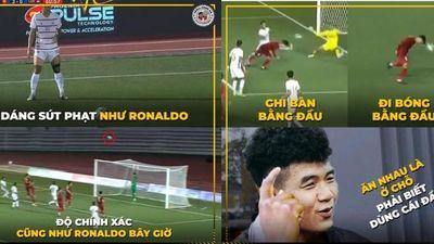 Cầu thủ Campuchia gốc Việt sút phạt như Ronaldo, thầy Park bỗng thay Đức Chinh ghi bàn