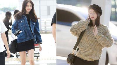 Yoona thích diện váy ngắn khoe chân thon dài khi ra sân bay