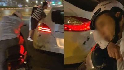 Shipper giả say quắc cần câu khi tông móp đuôi Porsche Panamera, chủ xe vẫn bỏ qua