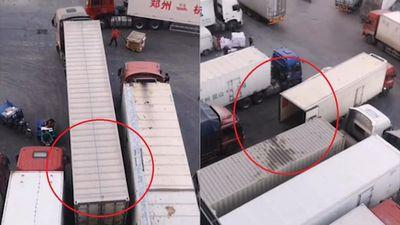 Cú lùi đỗ xe điệu nghệ của tài xế container