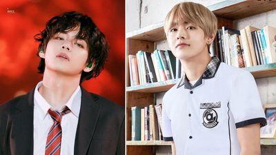 V (BTS) được khen trông như nam thần khi diện đồng phục học sinh