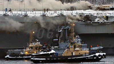 Thương vong vụ cháy tàu sân bay Nga tăng mạnh, vẫn còn người mất tích