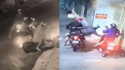 Clip cướp xe máy và túi xách của hai cô gái đi đêm ở TP.HCM gây hoang mang