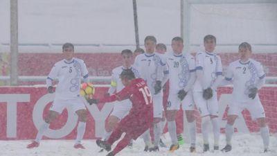 AFC gọi 'Cầu vồng tuyết' của Quang Hải biểu tượng của VCK U23 châu Á