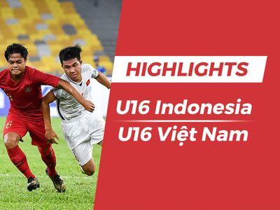 U16 Việt Nam có bàn mở tỷ số, nhưng sự lơ là nơi hàng phòng ngự khiến thầy trò HLV Hồng Việt không thể giành chiến thắng trước Indonesia trong lượt trận 2 bảng C giải U16 châu Á.