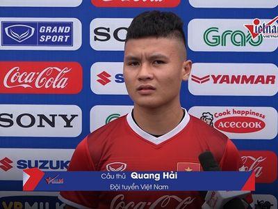 Tiền vệ Quang Hải tự tin nói về mục tiêu giành vị trí đầu bảng AFF Cup 2018 của ĐT Việt Nam.