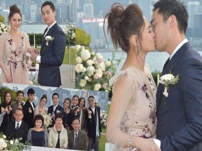 Chung Hân Đồng xinh như công chúa trong tiệc cưới ngoài trời
