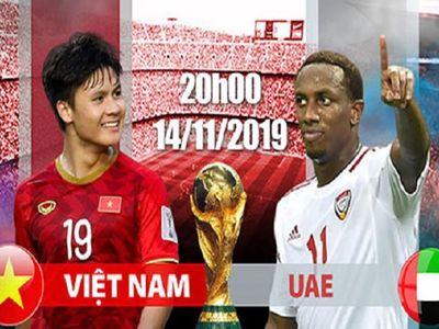 Trận đấu giữa đội tuyển Việt Nam và UAE trên SVĐ Mỹ Đình tối ngày 14/11 sẽ là cơ hội để thầy trò HLV Park Hang-seo thay đổi lịch sử.