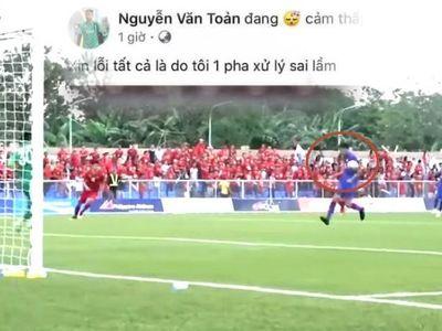 Từ góc quay phía sau khung thành, dễ thấy bàn thắng mở tỷ số ngay phút thứ 5 của U22 Thái Lan không hợp lệ vì thủ môn Nguyễn Văn Toản đã phát bóng trúng tay trái tiền đạo Supachai trước khi bay vào lưới nhà.