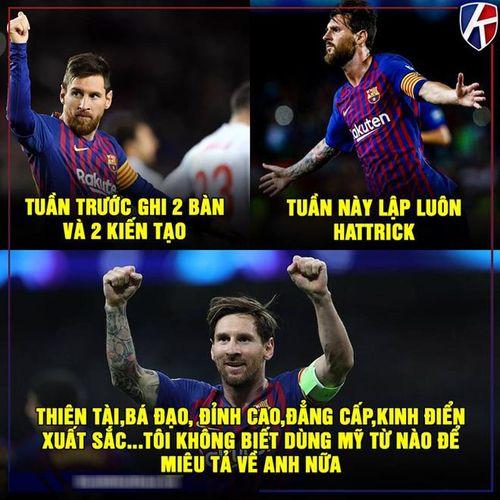 Ảnh chế: Messi tỏa sáng rực rỡ, fan MU bắt đầu 'run rẩy'