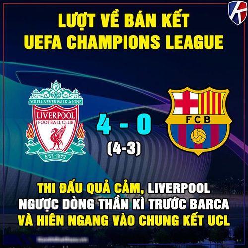 Ảnh chế: Ngược dòng địa chấn, Liverpool hiên ngang vào chung kết C1
