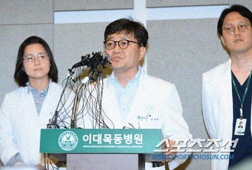 Họp báo về sức khỏe T.O.P (Big Bang): 'Bệnh nhân có thể ngừng hô hấp'