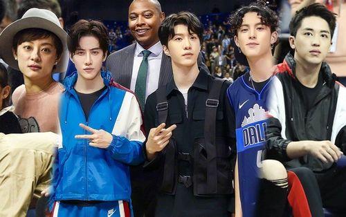 Cùng Phạm Thừa Thừa - Mike và Hứa Ngụy Châu, Tôn Lệ dẫn con đi xem bóng rổ NBA