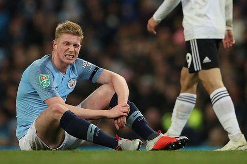 Man City lo 'sốt vó' khi nhận hung tin từ ngôi sao De Bruyne