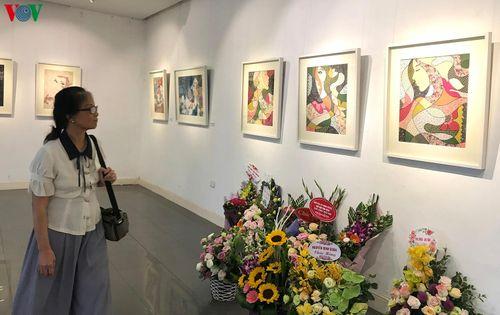 Độc đáo tranh ghép vải của họa sĩ Nguyễn Thu Huyền