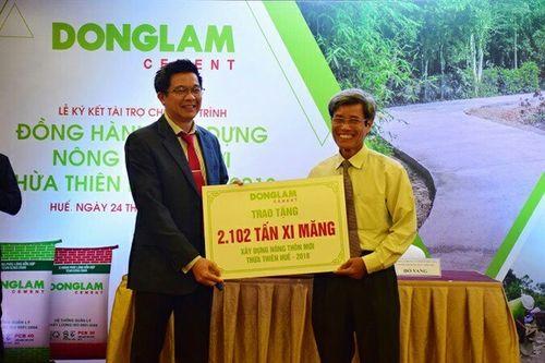 Xi măng Đồng Lâm tiên phong trong xây dựng NTM
