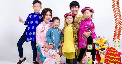 Gia đình Lý Hải - Minh Hà rực rỡ đón Xuân