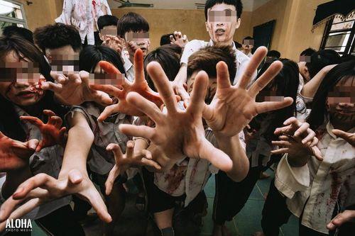 Teen Hà Nội gây tranh cãi khi hóa trang thành 'xác sống' chụp ảnh kỷ yếu