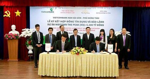 Vietcombank Nam Sài Gòn bảo lãnh 5.200 tỷ đồng cho Dự án Midtown The peak của Phú Mỹ Hưng