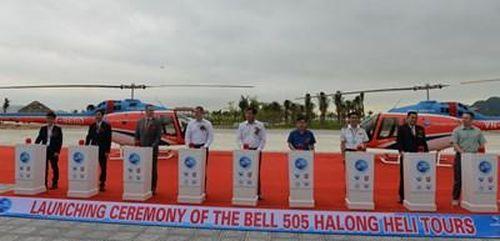 Khai trương dịch vụ bay ngắm cảnh Vịnh Hạ Long bằng máy bay trực thăng Bell-505