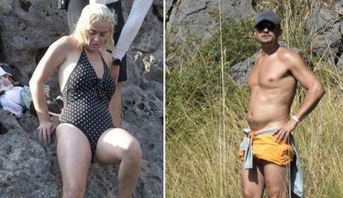 Orlando Bloom mất 6 múi, Katy Perry phát tướng sau kỳ nghỉ dưỡng