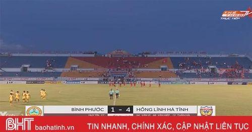 Đánh bại Bình Phước 4-1, Hồng Lĩnh Hà Tĩnh tiến gần với suất thăng hạng V.League 2020