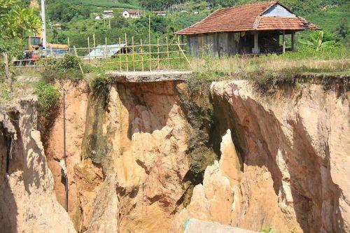 Sạt lở đe dọa khu tái định cư thủy điện Đăkđrinh