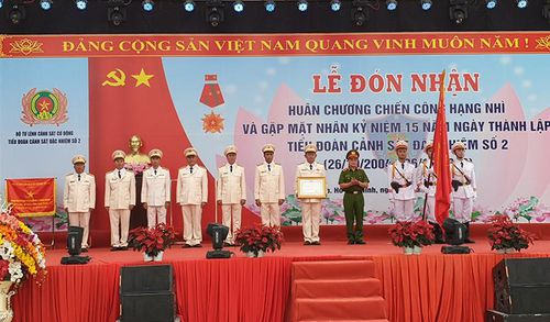 Tiểu đoàn CSĐN số 2 nhận huân chương Chiến công hạng Nhì