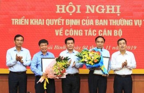 Lãnh đạo mới ở Thái Bình, Nam Định, Bắc Kạn