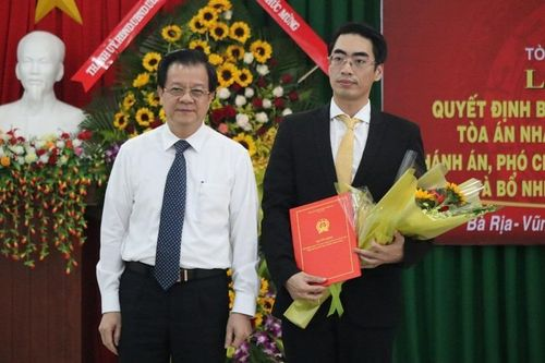 TAND tỉnh Bà Rịa-Vũng Tàu có phó chánh án 36 tuổi