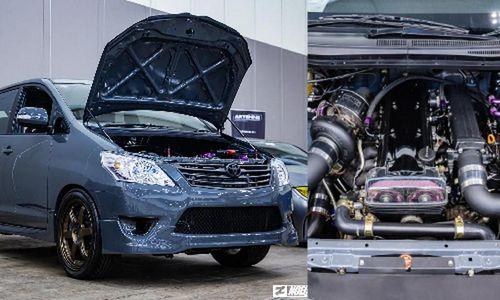 Dân chơi Indonesia nhét máy Toyota Supra vào xe Innova