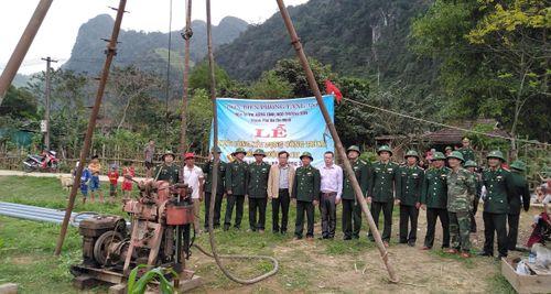 Khởi công xây dựng giếng nước sạch cho nhân dân biên giới