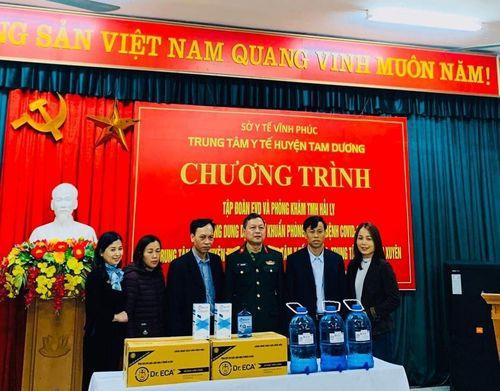 Tập đoàn EVD và phòng khám TMH Hải Ly tặng dung dịch khử trùng tại Vĩnh Phúc
