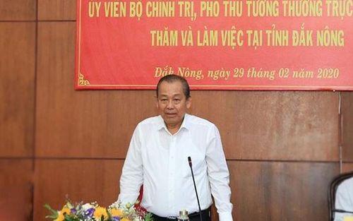 Phó Thủ tướng Trương Hòa Bình làm việc tại tỉnh Đắk Nông