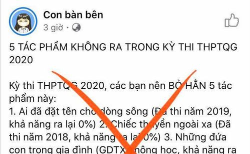 Cảnh báo giới hạn tác phẩm Ngữ văn cho kì thi quốc gia!