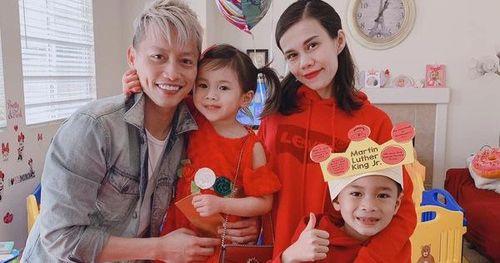 Thụy Anh tổ chức sinh nhật cho con gái 4 tuổi ở Mỹ, ảnh gia đình hé lộ mối quan hệ của chồng với con trai riêng