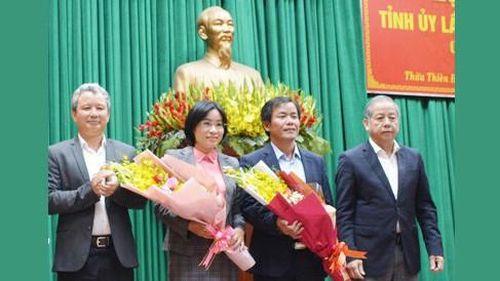 Ban Bí thư chuẩn y 2 Ủy viên Ban Thường vụ Tỉnh ủy Thừa Thiên - Huế
