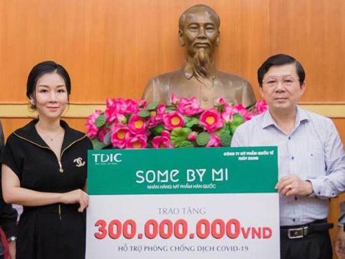 Some by Mi, mỹ phẩm quốc tế Thùy Dung ủng hộ 300 triệu chống Covid-19