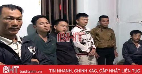 6 con bạc không kịp trở tay khi công an xã ở Hương Sơn ập bắt