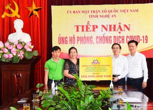 Ủy ban MTTQ tỉnh tiếp nhận hỗ trợ lương thực cho người dân gặp khó khăn