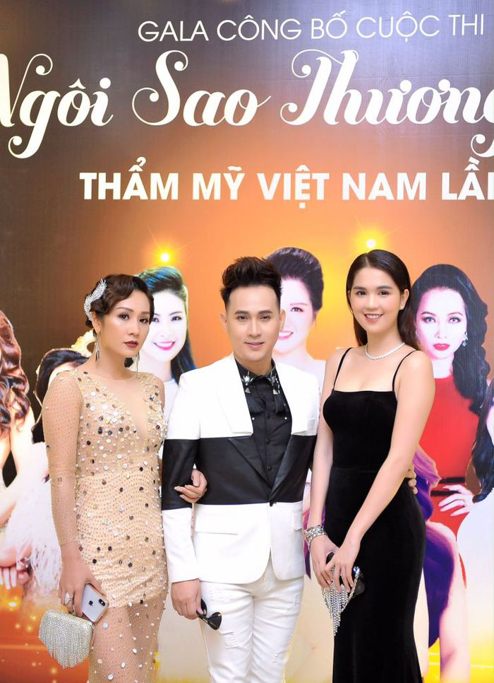 Hoa hậu Vũ Loan, Ca sĩ Nguyên Vũ, Nữ hoàng nội y Ngọc Trinh tại sự kiện