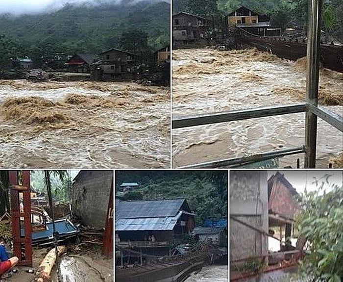 Báo PL&XH: Lào Cai: Hàng chục nhà dân bị ảnh hưởng và thiệt hại lớn do lũ quét lúc nửa đêm