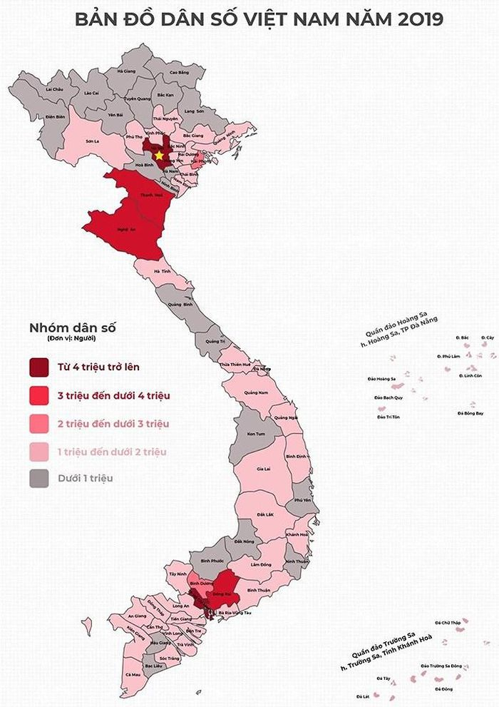 Báo Infonet: Thứ hạng dân số 63 tỉnh thành mới nhất