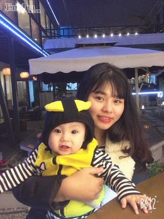 Chị Hương Giang và bé Gấu (Ảnh: NVCC)