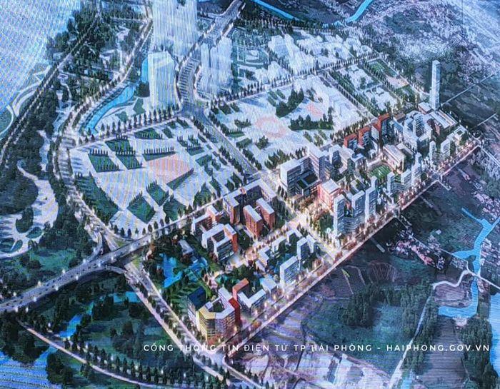 Phối cảnh mô hình dự án thành phố giáo dục quốc tế Hải Phòng với tổng mức đầu tư khoảng 13.000 tỷ đồng (Ảnh: haiphong.gov.vn)