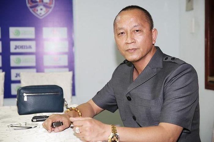 Ông Phạm Thanh Hùng là Chủ tịch HĐQT Công ty CP Khai thác Khoáng sản vàng Hà Giang. Ảnh: QuangninhFC.